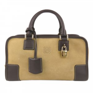 Loewe Amazona Suede Leather Handbag