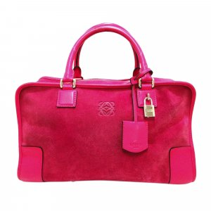 Loewe Handbag magenta suede