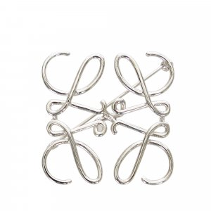 Loewe Spilla argento Metallo