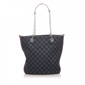 Loewe Anagram Canvas Chain Tote Bag