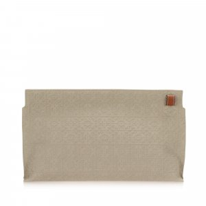 Loewe Anagram Canvas Clutch Bag