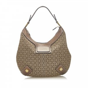 Loewe Anagram Canvas Hobo Bag