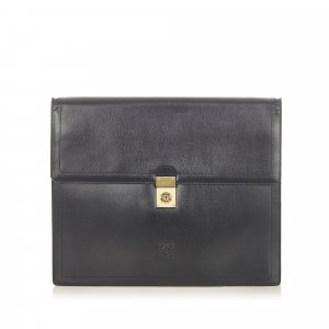 Loewe Business Bag black leather