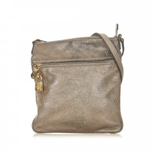 Loewe Crossbody bag bronze-colored leather