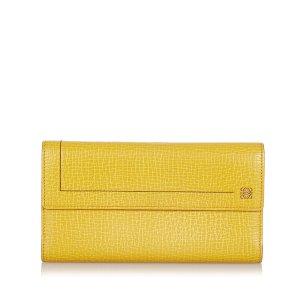 Loewe Wallet yellow leather