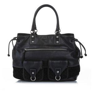 Loewe Anagram Leather Tote Bag