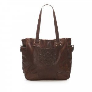 Loewe Anagram Leather Tote Bag