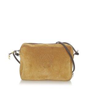 Loewe Crossbody bag brown suede