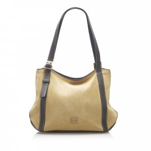 Loewe Anagram Suede Leather Tote Bag