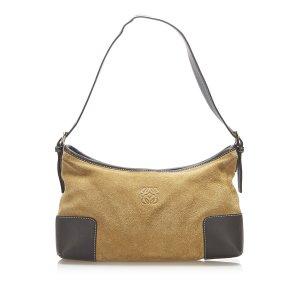 Loewe Anagram Suede Shoulder Bag