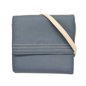 Loewe Wallet blue textile fiber
