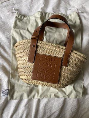 Loewe Bolso tipo cesta color bronce tejido mezclado