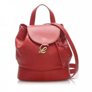 Loewe Drawstring Leather Backpack