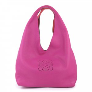 Loewe Dunas Leather Hobo Bag