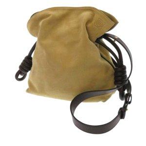 Loewe Flamenco Knot Suede Shoulder Bag