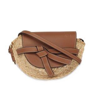 Loewe Gate Raffia Crossbody Bag