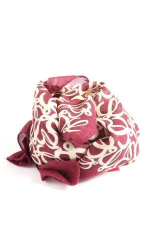 Loewe Halstuch pink-weiß abstraktes Muster Casual-Look