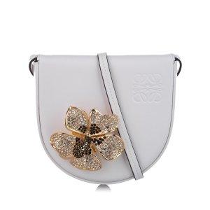 Loewe Heel Saddle Mini Leather Crossbody Bag