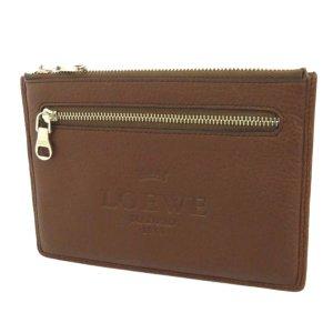 Loewe Porte-cartes brun cuir
