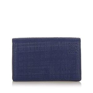Loewe Porte-cartes bleu cuir