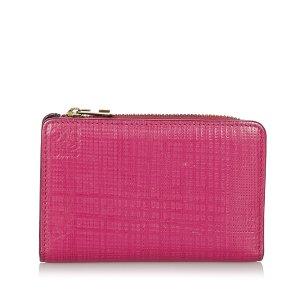 Loewe Wallet pink leather