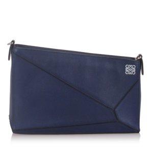 Loewe Shoulder Bag dark blue leather