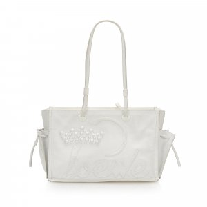 Loewe Bolso de compra blanco Cuero