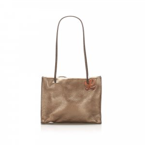 Loewe Tote bronze-colored leather
