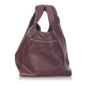 Loewe Bolso de viaje púrpura Cuero