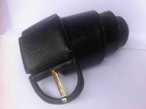 Loewe Ceinture en cuir noir