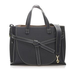 Loewe Medium Gate Top Handle Leather Handbag
