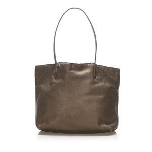 Loewe Tote dark brown leather