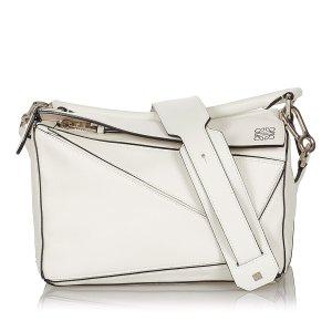 Loewe Satchel white leather