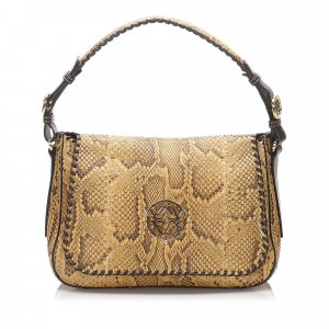 Loewe Python Leather Shoulder Bag