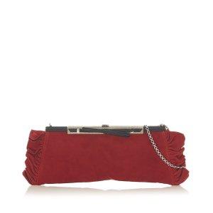 Loewe Crossbody bag red suede
