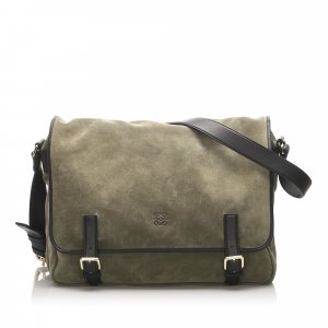 Loewe Suede Leather Crossbody Bag