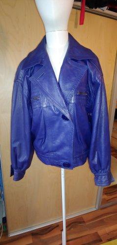 Loewe Vintage Jacke lila Lederjacke Blouson 42 40 38