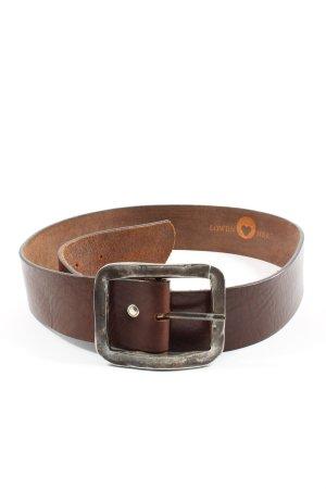 Löwenherz Hebilla del cinturón marrón look casual