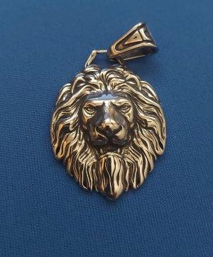 Löwenkopf Anhänger aus Chirurgenstahl