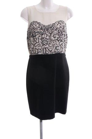 Loft Cocktailkleid weiß-schwarz abstraktes Muster Casual-Look
