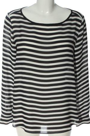 Loft Langarm-Bluse schwarz-weiß Allover-Druck Business-Look