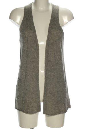 Loft Gilet long tricoté bronze moucheté style décontracté