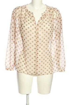 Loft Schlupf-Bluse creme-braun Allover-Druck Business-Look