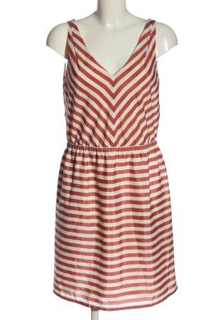Loft Sommerkleid creme-rot Streifenmuster Casual-Look