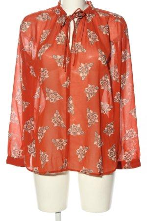 Loft Transparenz-Bluse rot Blumenmuster Business-Look