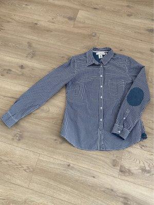 L.O.G.G. H&M Bluzka w kratę biały-niebieski