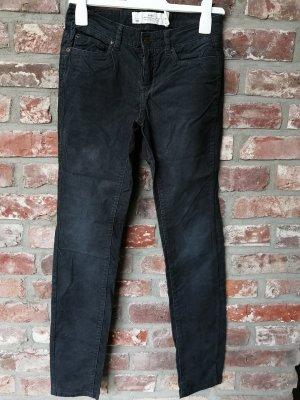 H&M L.O.G.G. Pantalon en velours côtelé gris anthracite