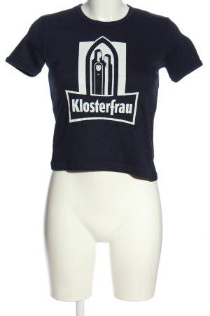 Logoshirt Print-Shirt schwarz-weiß Motivdruck Casual-Look