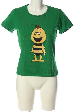 Logoshirt Print-Shirt Motivdruck Casual-Look