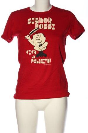 Logoshirt T-Shirt rot Motivdruck Casual-Look
